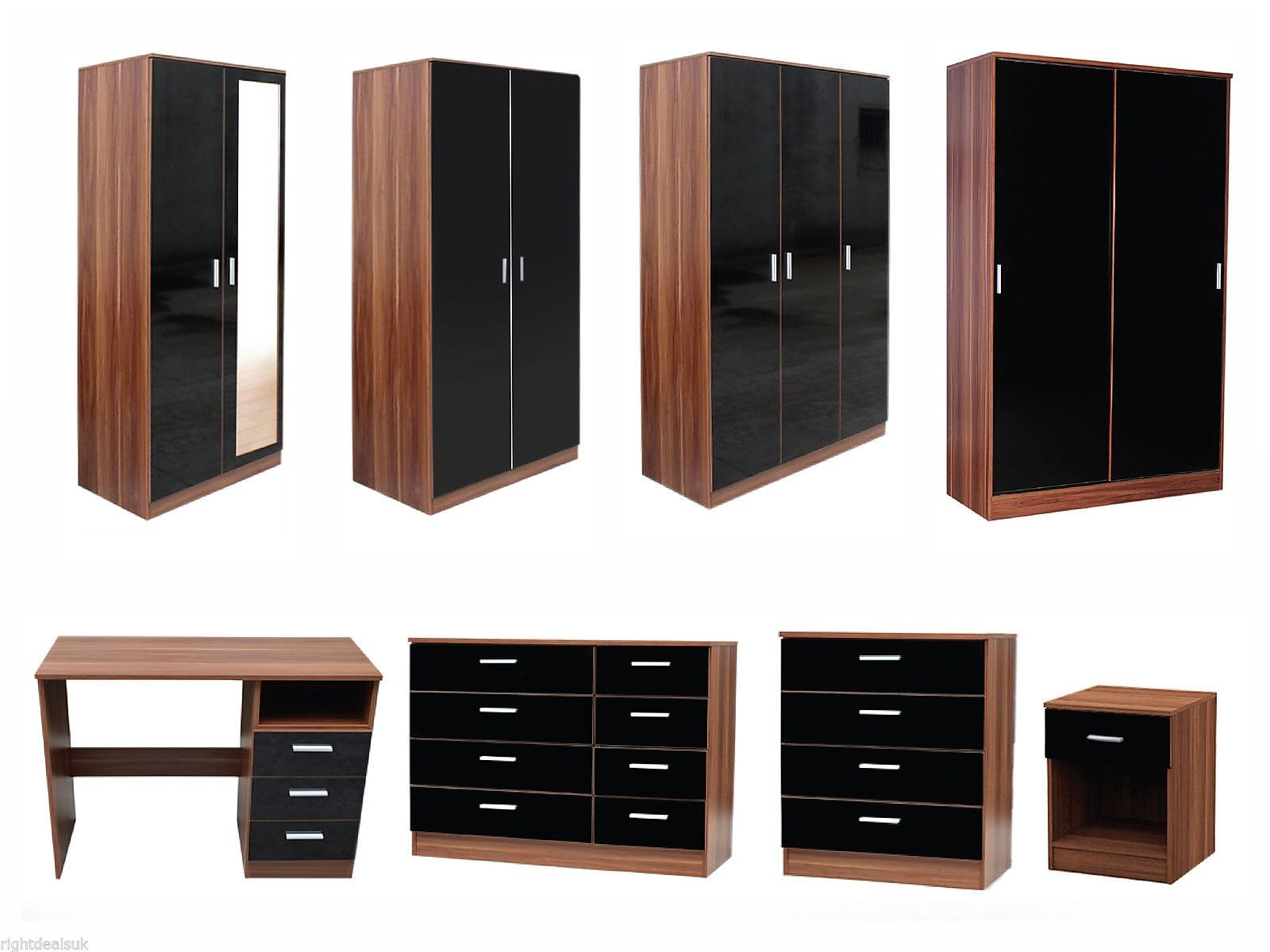 Caspian high gloss bedroom furniture sets bedroom furniture