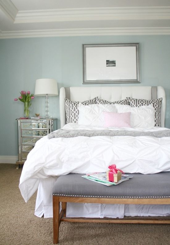 Beautiful Master Bedroom Bedding Paint Colour : Smoke By Benjamin Moore A Thoughtful  Place