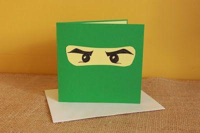 Schatzli Vintage Blog Ninjago Birthday Card Diy Birthday Cards Diy Lego Birthday Cards Birthday Cards