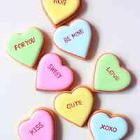 バレンタインハートのアイシングクッキー