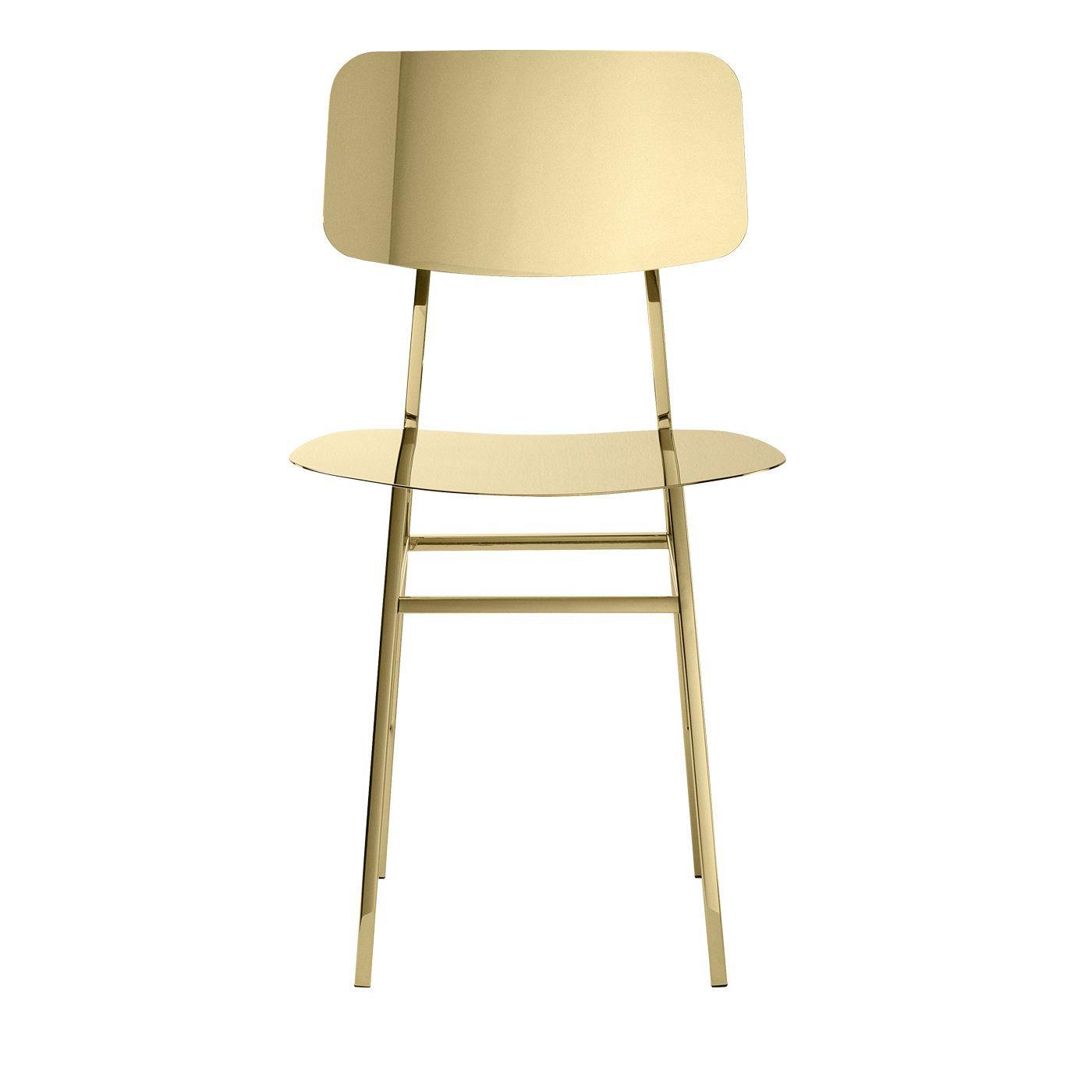Miami Chair Satin Gold By Nika Zupanc In 2020 Miami Chair Minimal Furniture Chair