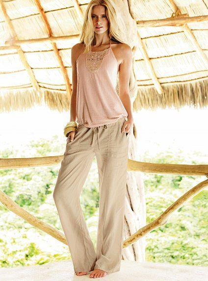 banana republic linen drawstring... these pants look so comfy