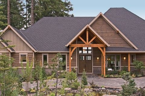 Northwest Style Craftsman Lodge. Plan 1411D The Timbersedge is a 5155 SqFt Craftsman, Lodge style home plan featuring Den, Formal Dining Room, Guest Suite, His & Hers Closets, Media/Theater Room, Mud Room , Outdoor Kitchen, Skylights, Split Bedrooms, Walk-In Pantry, Wet Bar, and Wine Cellar by Alan Mascord Design Associates. View our entire house plan collection on Houseplans.co.