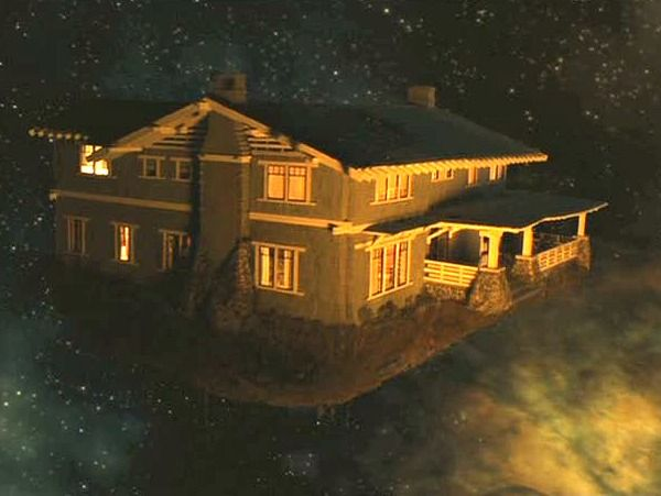 Zathura movie craftsman floating in space the exterior of the model house matched the real
