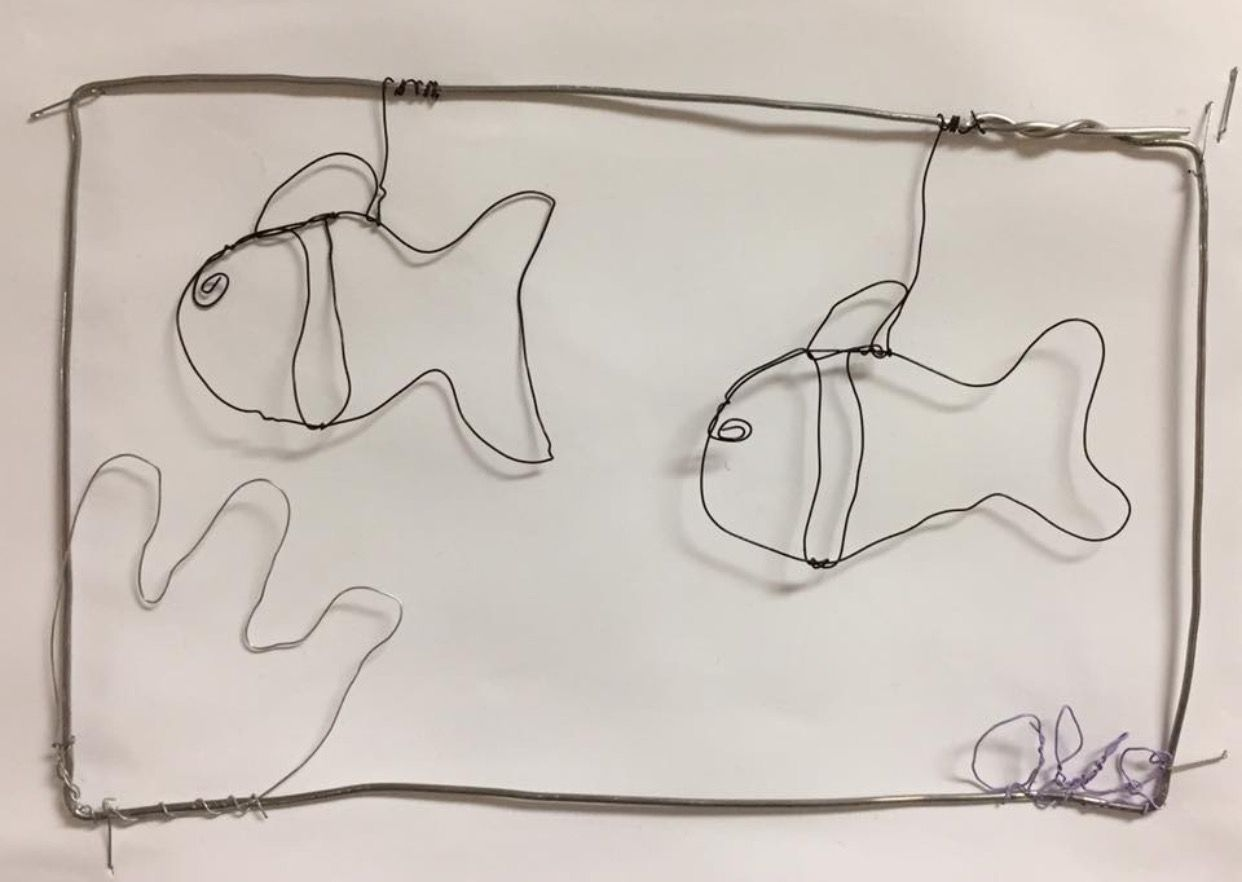Wire sculpture by fifth grade student at Illahee Elementary ...