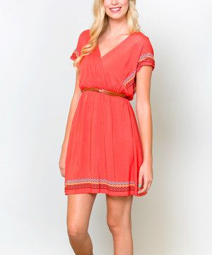 This Coral Beach Getaway Day Dress by White Plum is perfect! #zulilyfinds