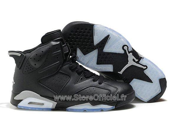 585f93a2dab5 Air Jordan 6 VI Retro Chaussures Baskets Nike Jordan Officiel Pas Cher Pour  Homme Noir