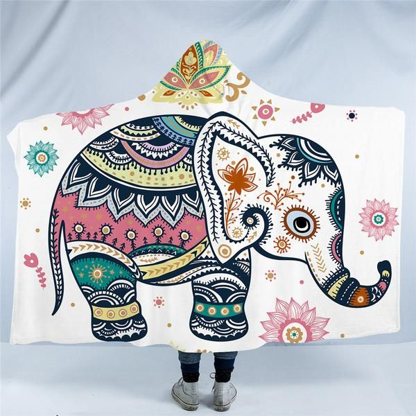 New Design Of Elephant Hooded Blanket Lovers Hurry Up And Get