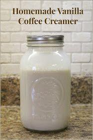 Jenn's Random Scraps: Homemade Vanilla Coffee Creamer #frenchvanillacreamerrecipe