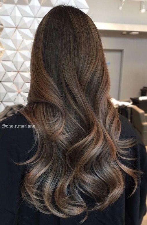 Subtle Ash Brunette Bayalage Hair Styles Balayage Hair