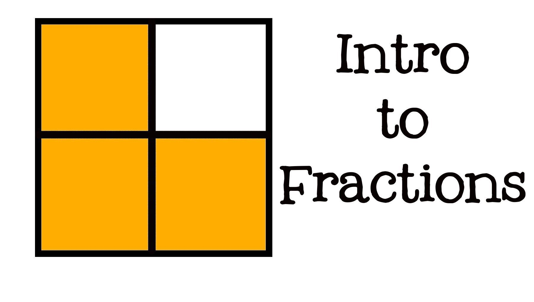 Intro To Fractions All About Fractions For Kids