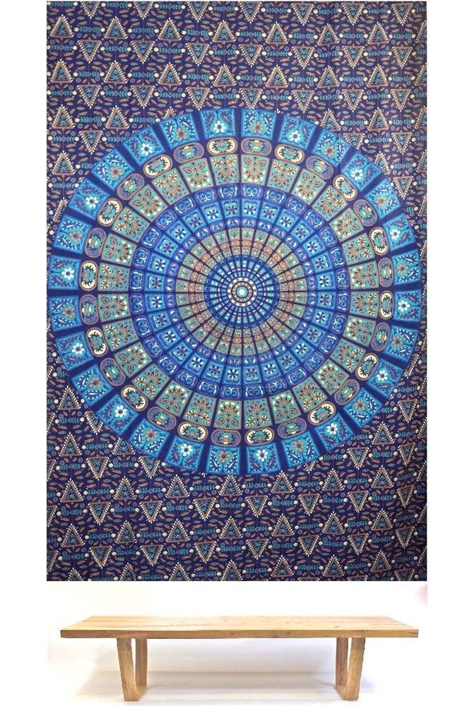 Big Indian Mandala Hippie Tapestry Wall Hanging