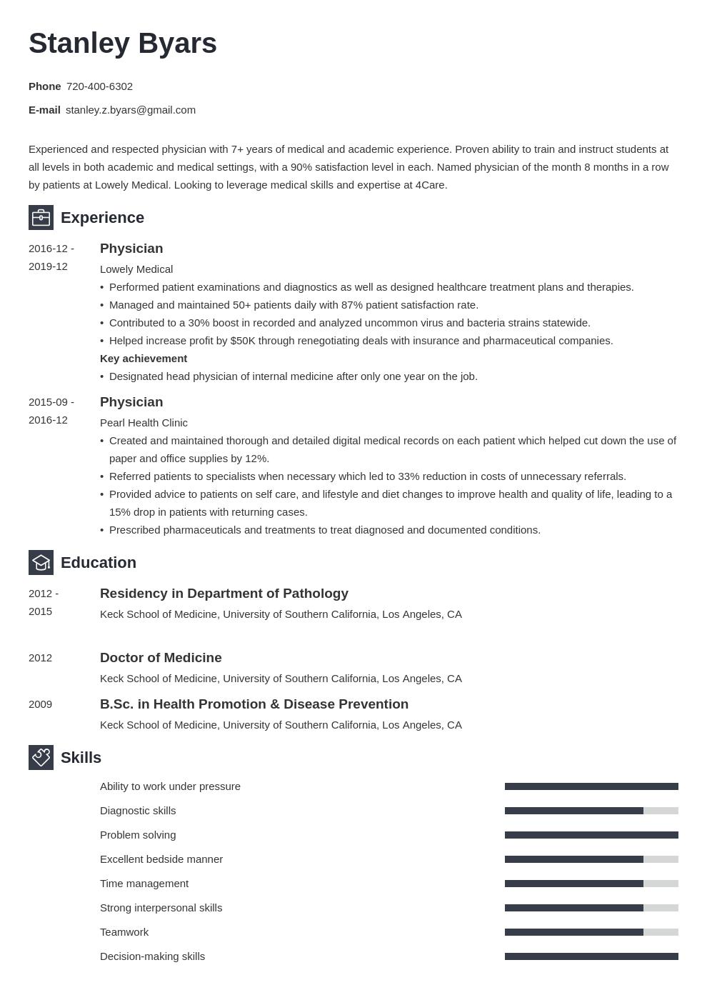 Pin on CV Examples