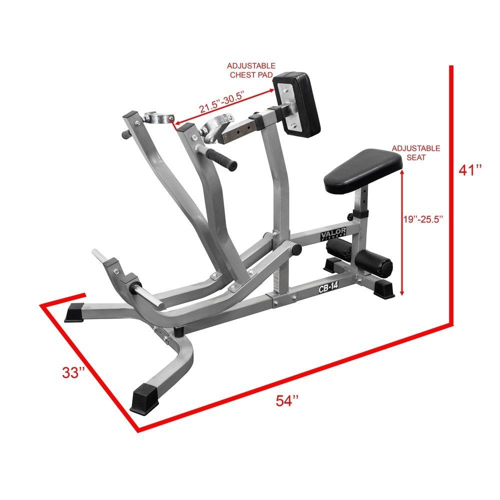 Valor Fitness CB14 Seated Row Machine/Chest Pull Machine