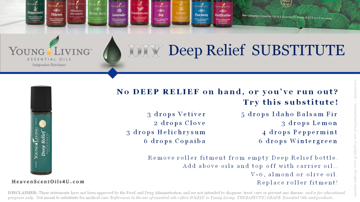 Young Living Essential Oils: Deep Relief Substitute