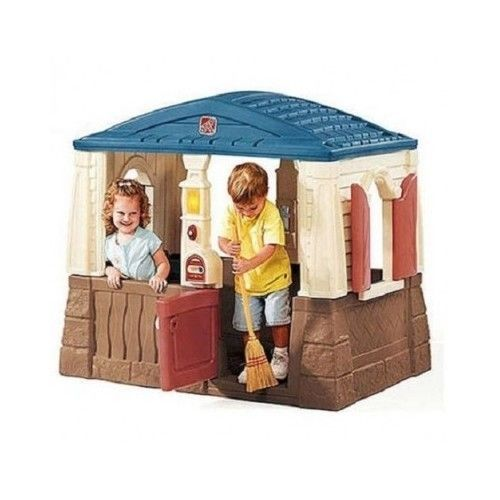 kids outdoor playhouse play fort plastic step 2 cottage house rh pinterest com step 2 charming cottage playhouse playhouse cottage step 2