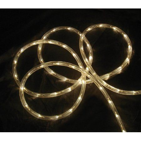 Walmart Rope Lights Mesmerizing 18' Warm Clear Led Indooroutdoor Patio Christmas Rope Lights Inspiration