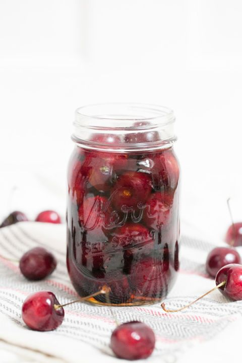 Best for: Sweetening up Manhattans and making adult cherry Cokes Make it: Pit cherries and soak in bourbon-spiked sugar syrup. Get the full tutorial at Sugar and Charm »