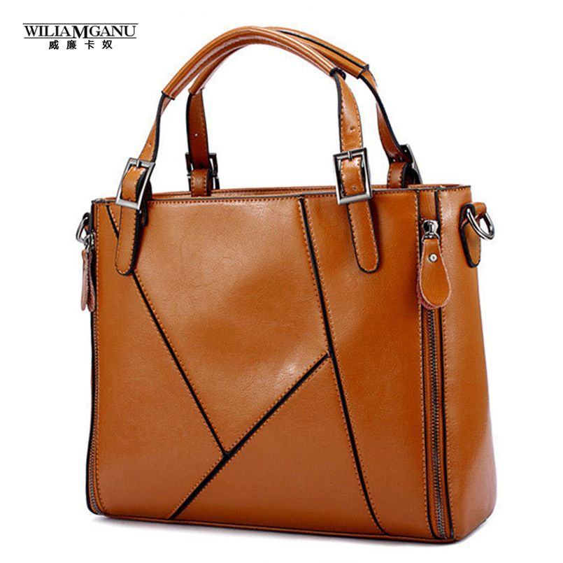 7ab9785c822f Fashion Patchwork Designer Cattle Split Leather Bags Women Handbag Brand  High Quality Ladies Shoulder Bags Women Bags   Price   31.42   FREE  Shipping      ...