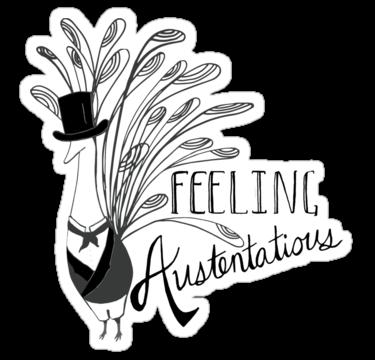Peacock & Prejudice - Sticker