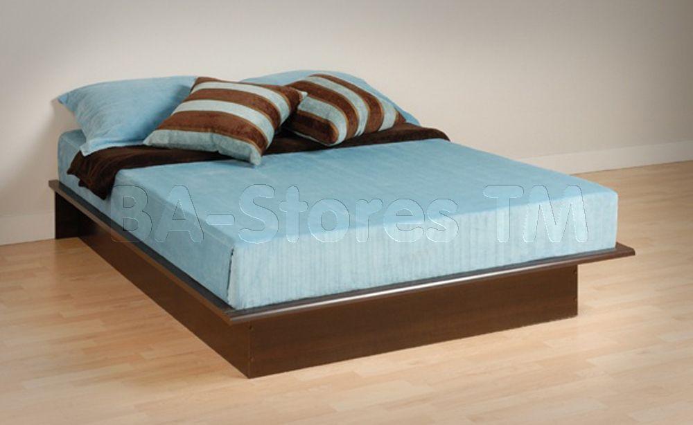 Platform Bed in Espresso by Prepac Furniture | mueble negro ...