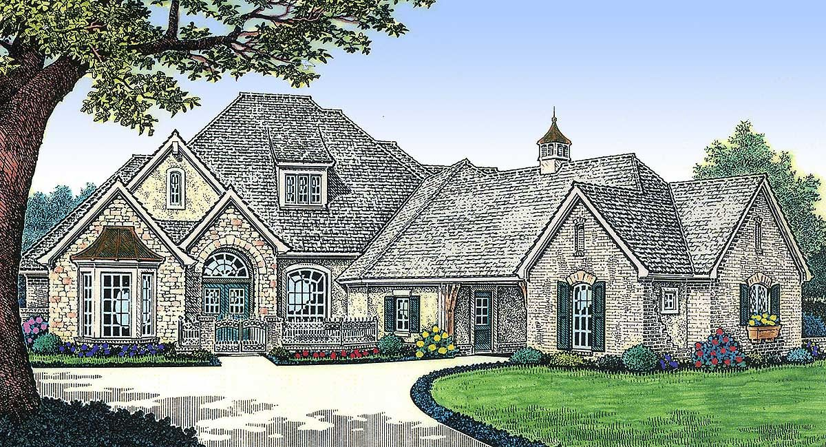 Plan 48265fm French Country Delight European House Plans French Country House Plans Ranch House Plans