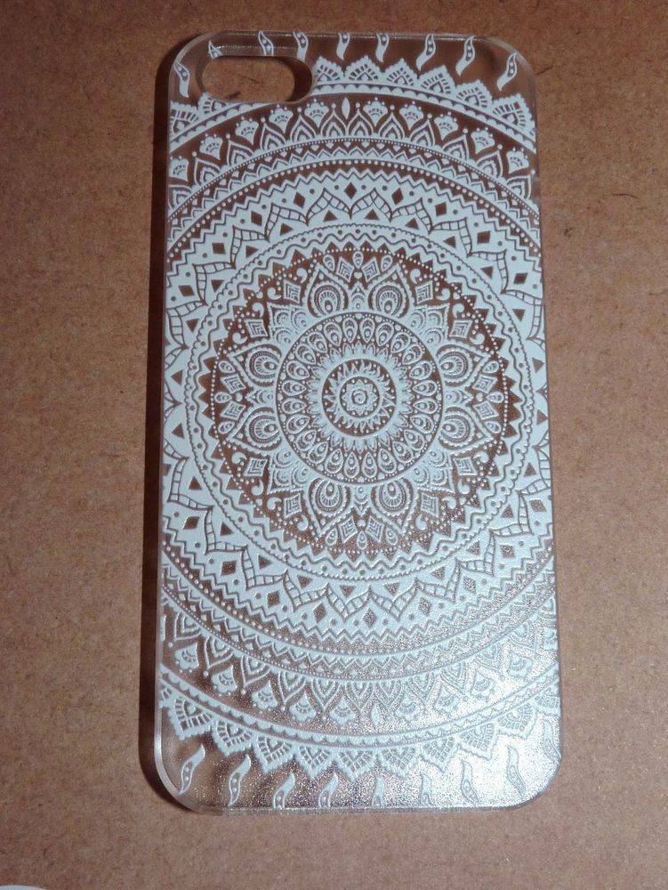 Mobile Henna Artist Los Angeles Ca: BOHEMIAN WHITE HENNA MANDALA IPHONE 5 5S CLEAR PHONE CASE