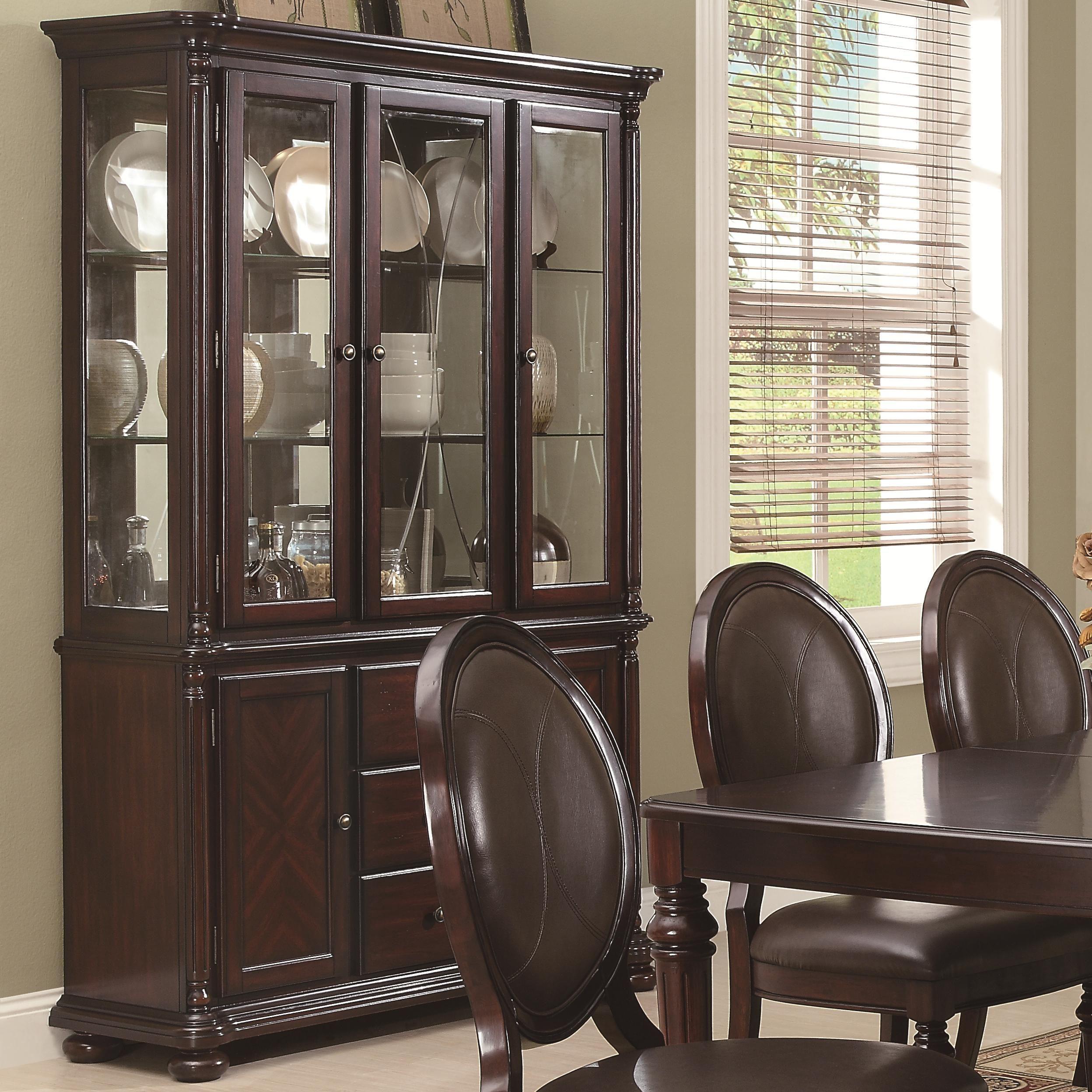 davina china cabinet by coaster furniture china cabinet kitchen rh pinterest com