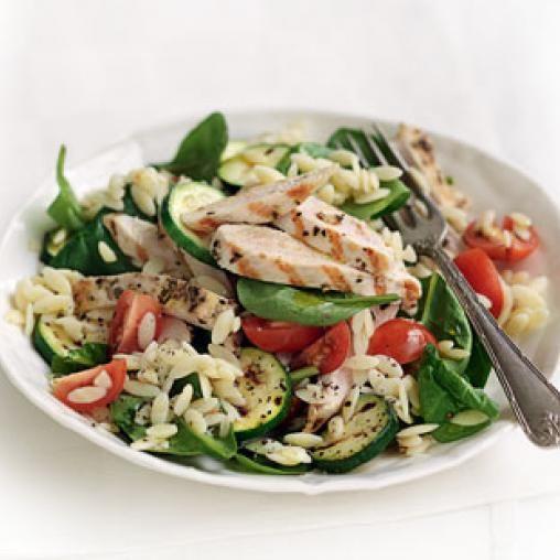 Greek Style Chicken With Risoni Salad Australian Healthy Food