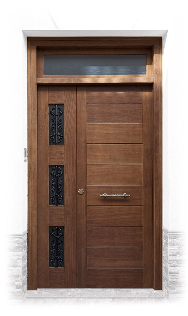 Resultado de imagen de puertas de exterior madera for Puertas de calle aluminio precios