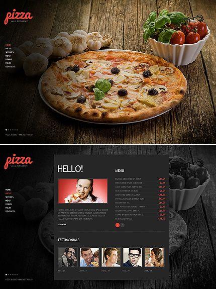 Pizza Website Template Website Template Restaurant Website