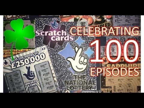 Scratchcards from The National Lottery © EPISODE 100!! Day 5/5: The Theme of 100! - (More info on: https://1-W-W.COM/lottery/scratchcards-from-the-national-lottery-episode-100-day-55-the-theme-of-100/)
