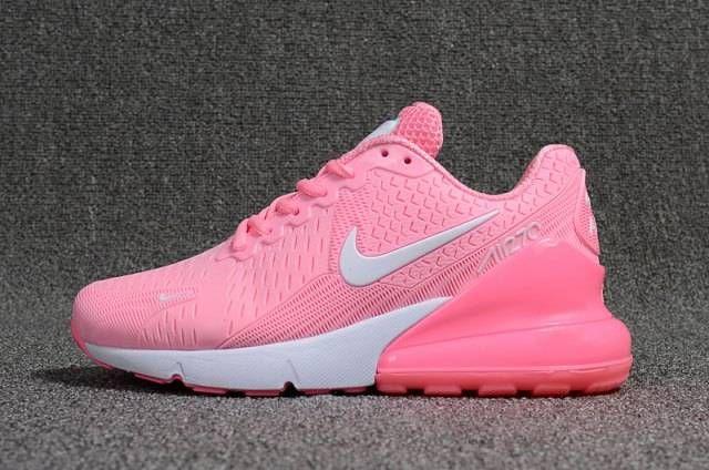 Nike Air Max 270 Womens Flyknit Mesh PinkWhite Cheapest Sale