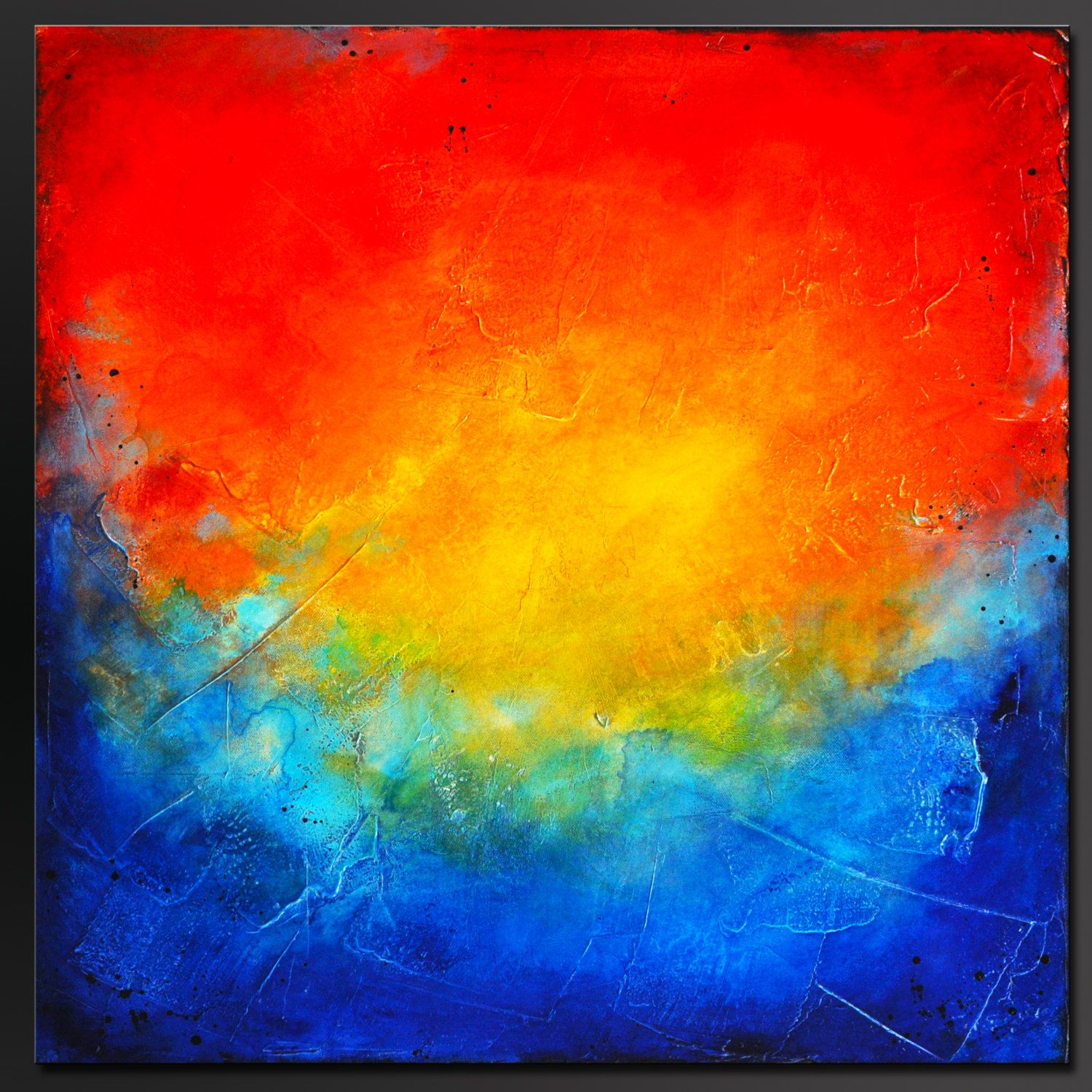 Illusion - 24 x 24 - Abstract Acrylic Painting - Contemporary Wall ...