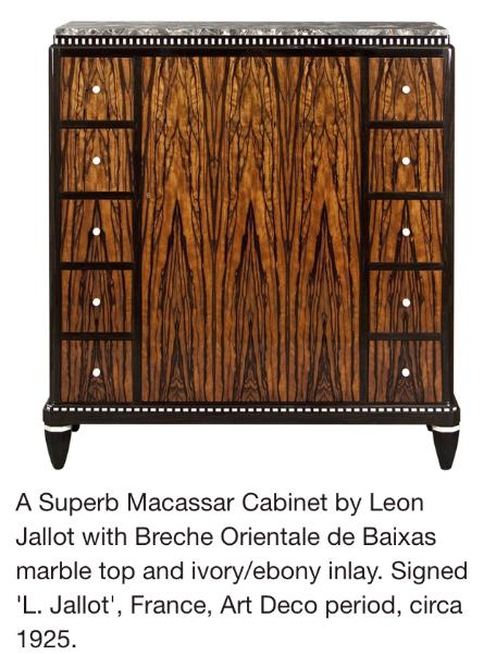 Macassar Cabinet By Leon Jallot Art Deco Period Circa 1925 Art Deco Furniture French Art Deco Furniture Art Deco Bedroom Furniture