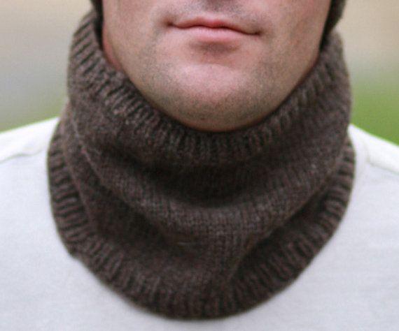 Mens Neck Warmer Crochet Mens Scarf Neck Warmer Scarf Men