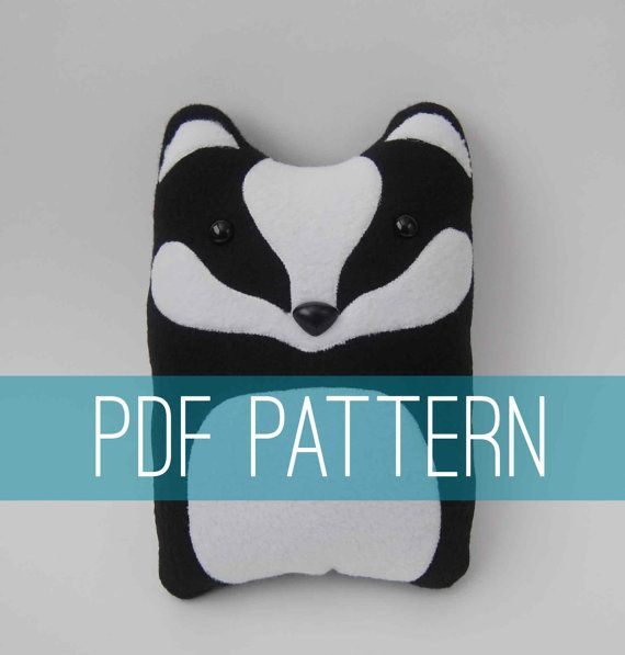 Diy badger pattern woodland pillow plush fleece fabric animal diy kit badger woodland pillow plush fleece fabric animal plushie do it yourself craft for children and adults make your own badger solutioingenieria Images