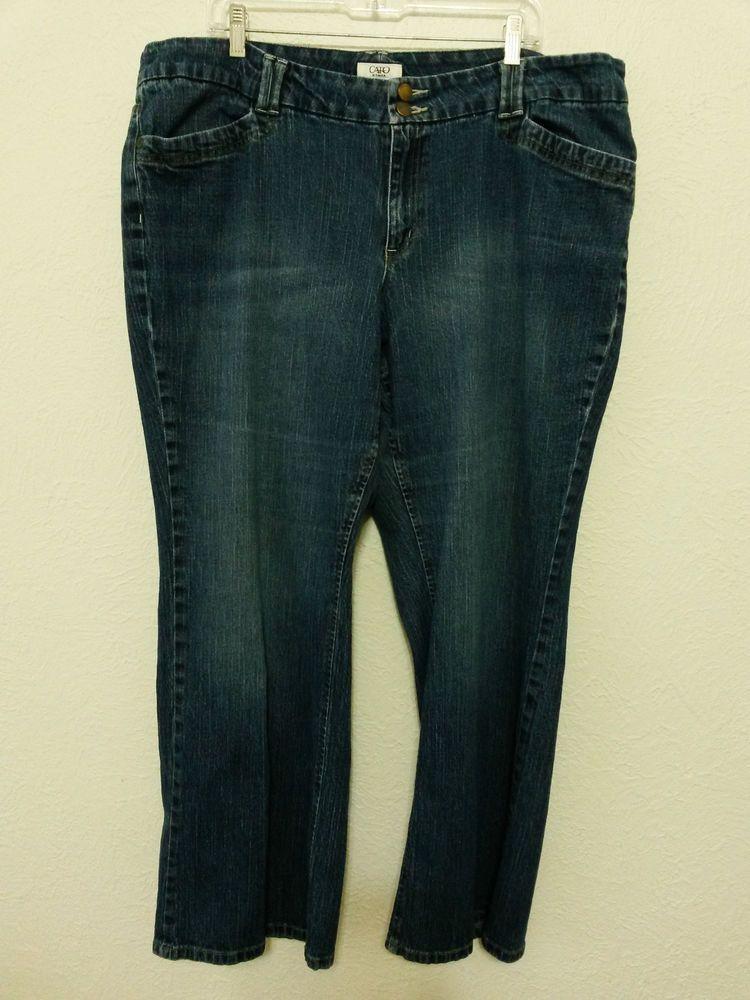 eb375ffef4 Cato - Women s Denim Blue Stretch Jeans - Size 22W Pants Inseam 30