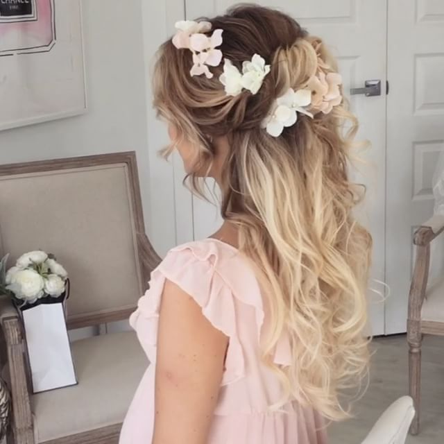 Cute Idea For #babyshower Upstyle Using #ulyanaasterextensions From  @ulyana.aster.store
