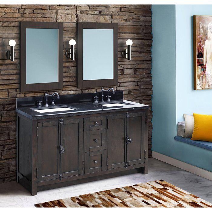 gracie oaks rickard 55 double bathroom vanity set on replacement countertops for bathroom vanity id=82848