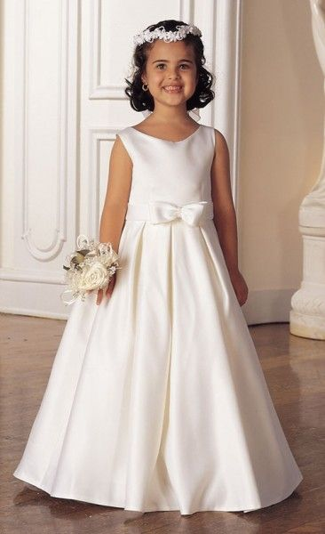 92b08ed0d6 First Communion Dress with Box Pleated Skirt - White - White