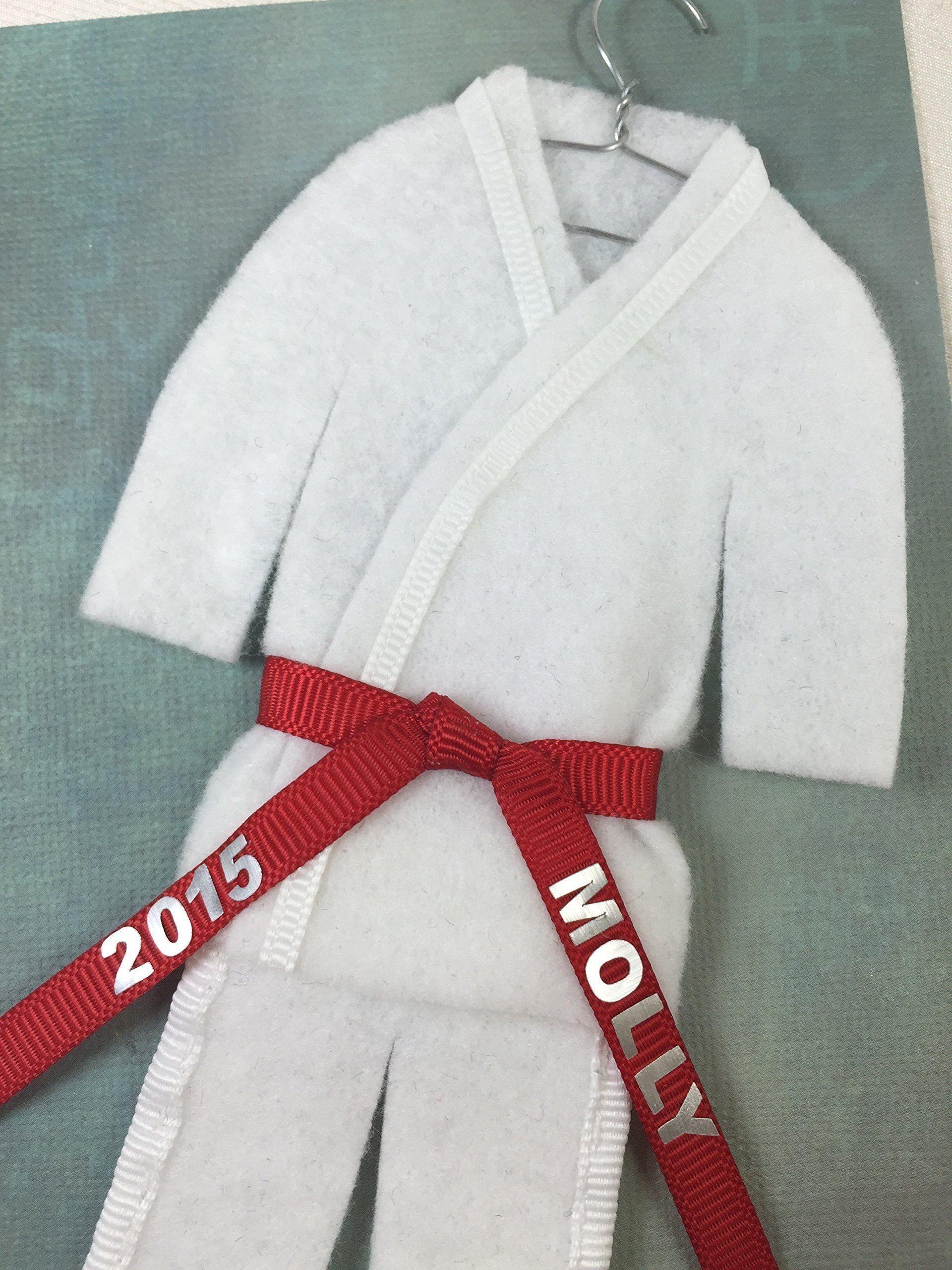 christmas ornament uniform martial arts personalized choose belt