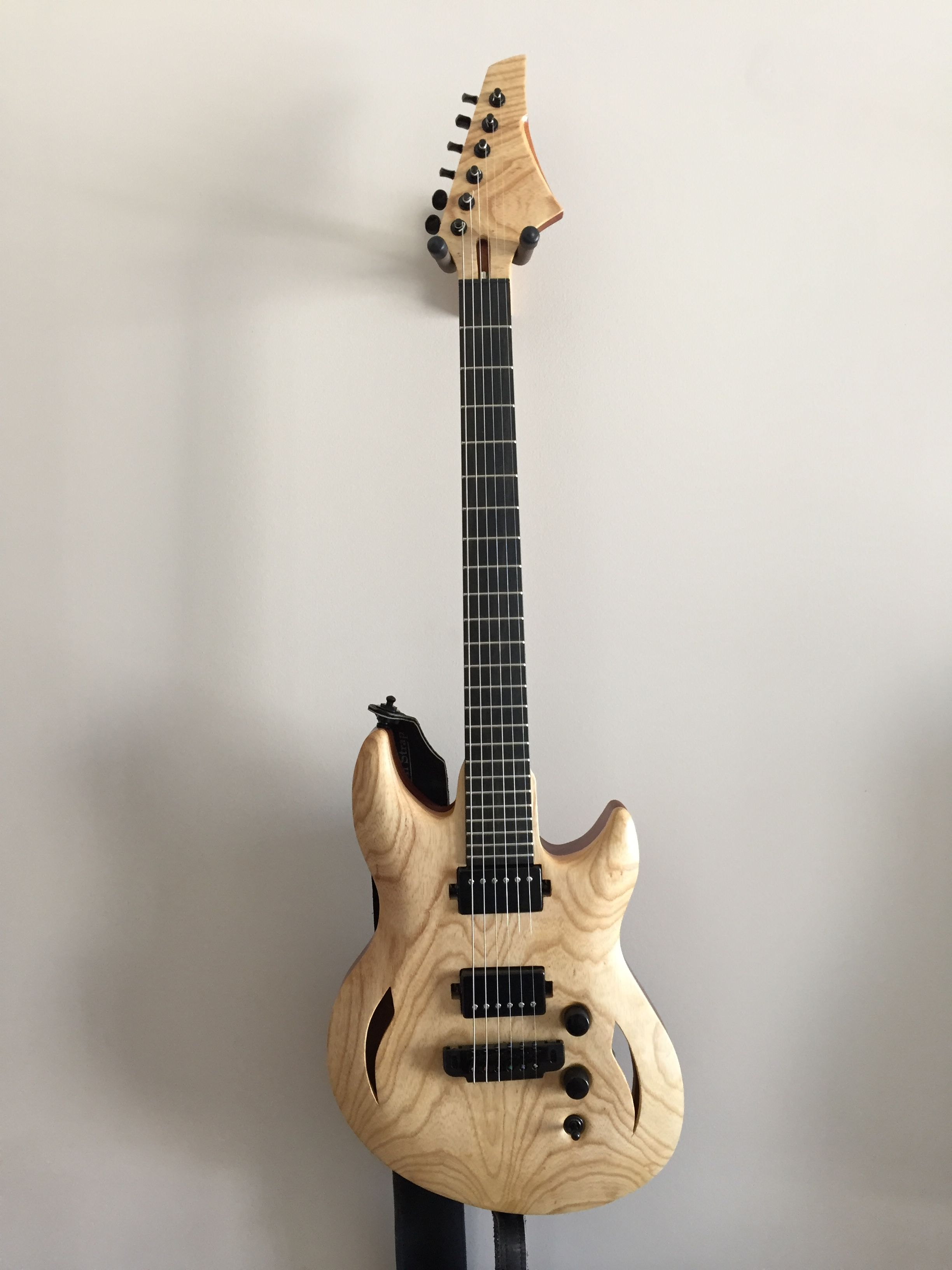 Custom By Charles Gallant Luthiery Electric Guitar Mahogany