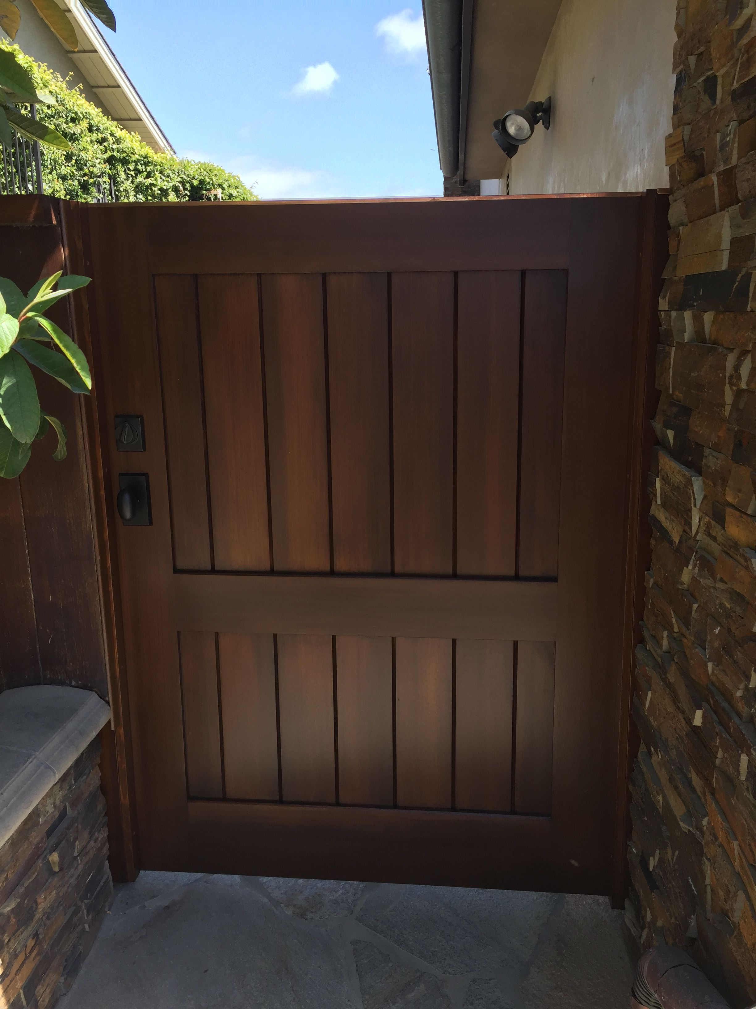 Custom Wood Gate by Garden Passages - Simple Side Gate ...