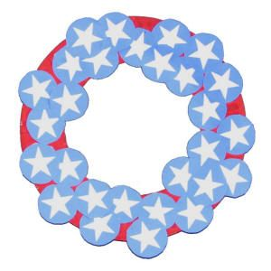 Fourth of July Paper Plate Wreath   Projects   Pinterest   Wreaths ...
