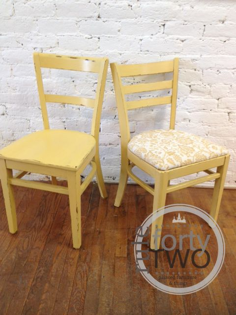 Chairs Painted In Amber Waves Of Grain Clay And Chalk Paint From American  Paint Company.