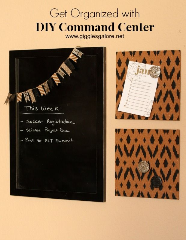 DIY Command Center + 10 Creative Ideas to Clean, Organize and Plan