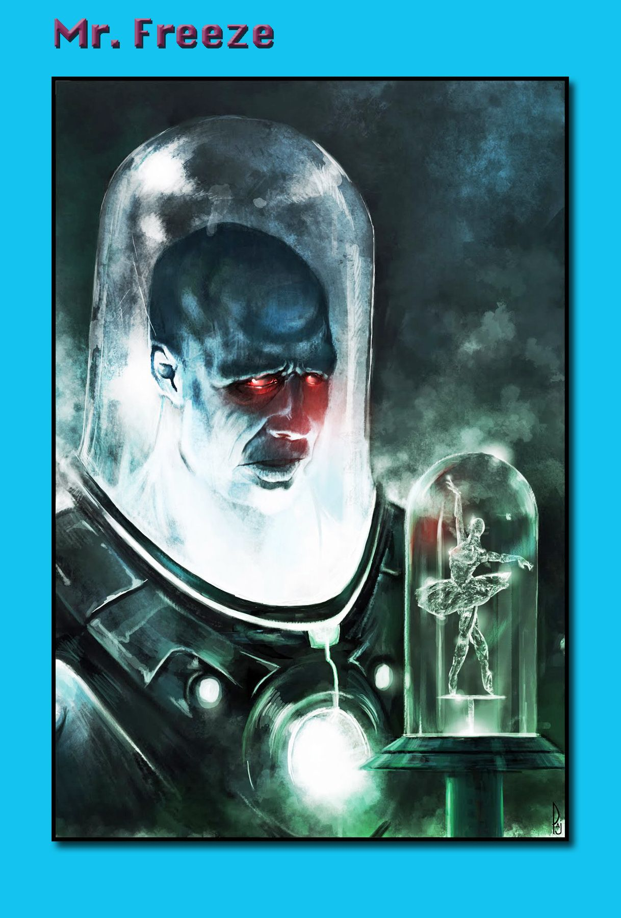 My all time favorite version of Dr. Victor Fries AKA Mr. Freeze is the one presented on Batman the Animated series and voiced with cold precision by character actor Michael Ansara as a man who's human emotions have literally frozen in his chest.