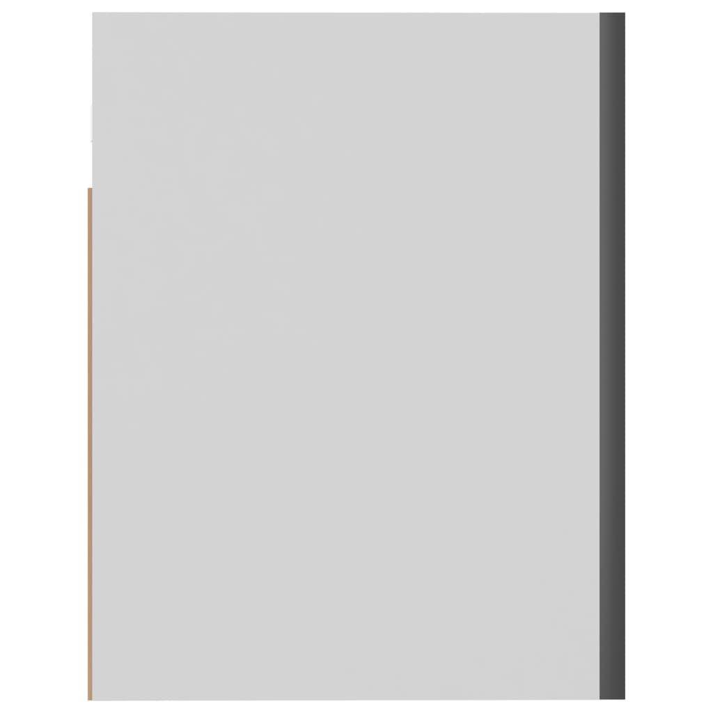 vidaXL Hanging Cabinet High Gloss Grey 60x31x40 cm Chipboard