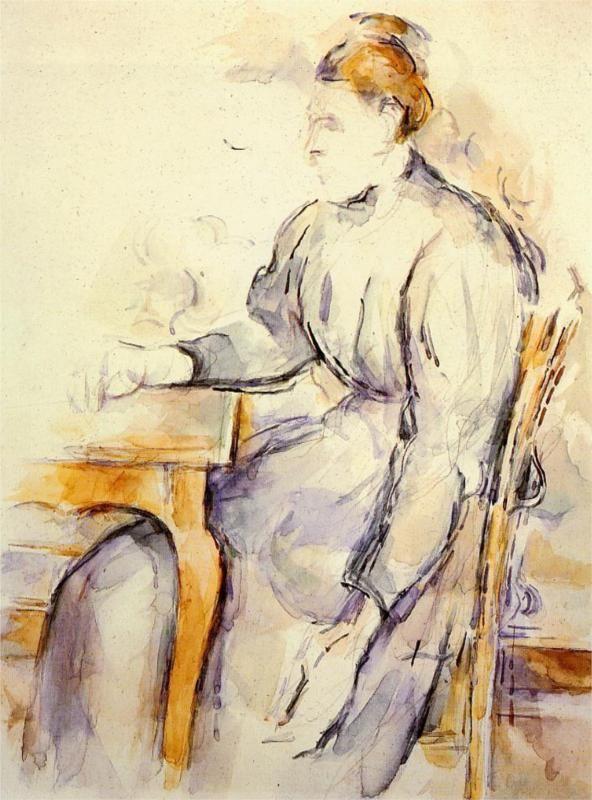 Paul Cézanne. Seated Woman